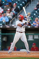 Louisville Bats first baseman Brandon Allen (29) at bat during a game against the Buffalo Bisons on June 22, 2016 at Coca-Cola Field in Buffalo, New York.  Buffalo defeated Louisville 8-1.  (Mike Janes/Four Seam Images)