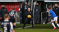30th December 2020; St Mirren Park, Paisley, Renfrewshire, Scotland; Scottish Premiership Football, St Mirren versus Rangers; St Mirren Manager Jim Goodwin gets the ball back into play