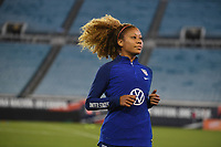 JACKSONVILLE, FL - NOVEMBER 10: Casey Short #26 of the United States warming up during a game between Costa Rica and USWNT at TIAA Bank Field on November 10, 2019 in Jacksonville, Florida.
