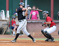 Infielder Grant Buckner (29) of the Bristol White Sox, Appalachian League affiliate of the Chicago White Sox, in a game against the Elizabethton Twins on August 18, 2011, at Joe O'Brien Field in Elizabethton, Tennessee. Elizabethton defeated Bristol, 13-3. (Tom Priddy/Four Seam Images)