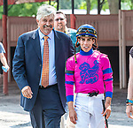 August 07, 2021: Stellar Tap #7, ridden by Ricardo Santana Jr. gives trainer Steven Asmussen win #9,446 making him the leading North American Thoroughbred trainer by wins on Whitney Day at Saratoga Race Course in Saratoga Springs, N.Y. <br /> Robert Simmons/Eclipse Sportswire