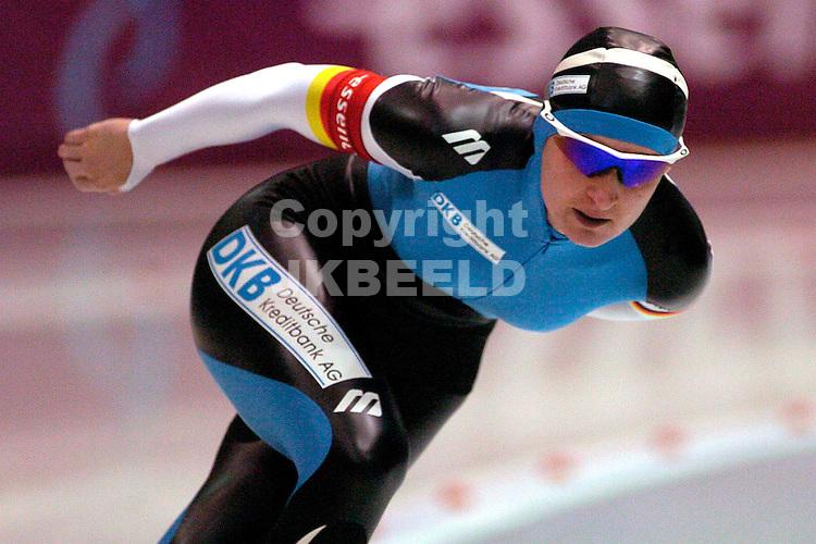 assen, afscheid Piet Kleine van de schaatssport bij de laatste marathon van het seizoen 2005
