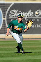 Siena Saints outfielder Andres Ortiz #3 during practice before a game against the Central Florida Knights at Jay Bergman Field on February 16, 2013 in Orlando, Florida.  Siena defeated UCF 7-4.  (Mike Janes/Four Seam Images)