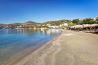 The beach Agioi Apostoloi Petries in Evia island, Greece