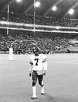 Condredge Holloway Ottawa Rough Riders quarterback 1977. Copyright photograph Scott Grant/