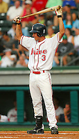 29 June 2007: Josh Reddick of the Greenville Drive, Class A South Atlantic League affiliate of the Boston Red Sox, in a game against the West Virginia Power at West End Field in Greenville, S.C. Photo by:  Tom Priddy/Four Seam Images
