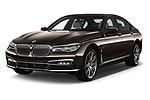 2018 BMW 7 Series Plug-In Hybrid 740Le iPerformance 4 Door Sedan angular front stock photos of front three quarter view