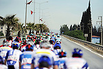 The rear of the peloton during Stage 7 of the 2015 Presidential Tour of Turkey running 166km from Selcuk to Izmir. 2nd May 2015.<br /> Photo: Tour of Turkey/Mario Stiehl/www.newsfile.ie