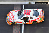 #18: Kyle Busch, Joe Gibbs Racing, Toyota Supra Combos celebrates his win