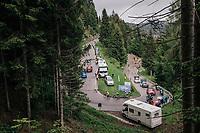 up the Passo di Sant'Antonio<br /> <br /> stage 15: Tolmezzo – Sappada (176 km)<br /> 101th Giro d'Italia 2018