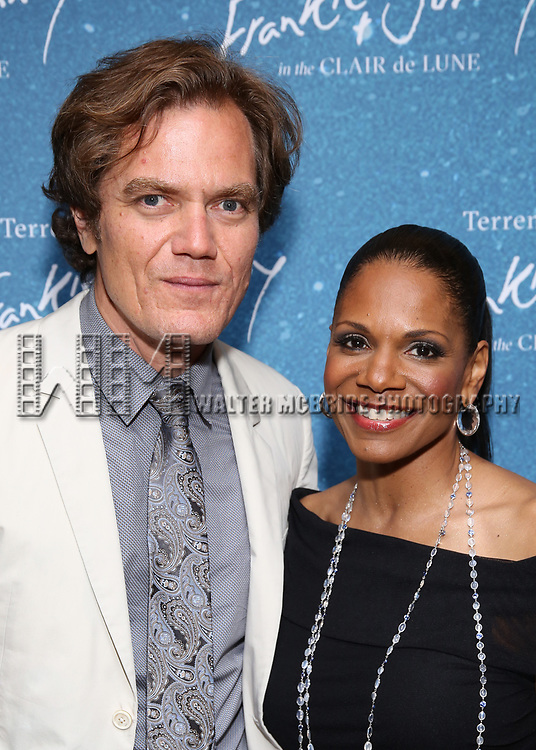 """Michael Shannon and Audra McDonald during the Opening Night After Party for """"Frankie and Johnny in the Clair de Lune"""" at the Brasserie 8 1/2 on May 29, 2019  in New York City."""