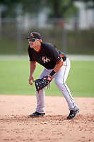 Miami Marlins Taylor Ard during a minor league Spring Training intrasquad game on March 31, 2016 at Roger Dean Sports Complex in Jupiter, Florida.  (Mike Janes/Four Seam Images)