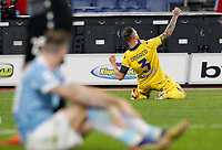 Hellas Verona s Federico Dimarco celebrates after scoring during the Serie A soccer match between Lazio and Hellas Verona at Rome's Olympic Stadium, December 12, 2020.<br /> UPDATE IMAGES PRESS/Riccardo De Luca