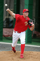 July 4th 2008:  Pitcher Justin De Fratus of the Williamsport Crosscutters, Class-A affiliate of the Philadelphia Phillies, during a game at Bowman Field in Williamsport, PA.  Photo by:  Mike Janes/Four Seam Images