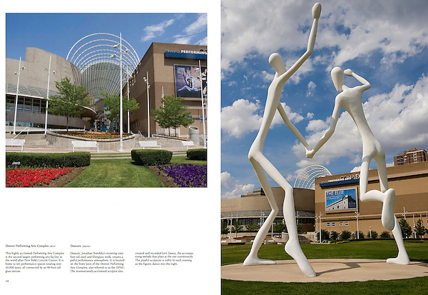 Two Dancers sculpture outside the Denver Performing Arts Complex.<br />