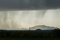 TANZANIA, Tarime, raining over mountain range / TANSANIA, Tarime, Regenwolken ueber Bergmassiv