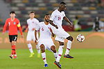 Almoez Ali of Qatar (R) in action during the AFC Asian Cup UAE 2019 Quarter Finals match between Qatar (QAT) and South Korea (KOR) at Zayed Sports City Stadium  on 25 January 2019 in Abu Dhabi, United Arab Emirates. Photo by Marcio Rodrigo Machado / Power Sport Images