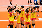 Team China celebrates a point during the match between China and Japan on May 30, 2018 in Hong Kong, Hong Kong. (Photo by Power Sport Images/Getty Images)