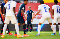 GUADALAJARA, MEXICO - MARCH 28: Jackson Yueill #6 of the United States sets up a freekick during a game between Honduras and USMNT U-23 at Estadio Jalisco on March 28, 2021 in Guadalajara, Mexico.