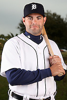 February 27, 2010:  Catcher Alex Avila (13) of the Detroit Tigers poses for a photo during media day at Joker Marchant Stadium in Lakeland, FL.  Photo By Mike Janes/Four Seam Images