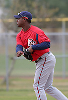 Washington Nationals minor leaguer Felix Diaz during Spring Training at the Carl Barger Training Complex on March 20, 2007 in Melbourne, Florida.  (Mike Janes/Four Seam Images)