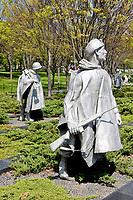 Washington, D.C.  Korean War Memorial.