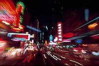 Blur of lights in Hong Kong