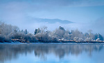 Washington, Northeast, Newport. Freezing fog enshrouds the banks of the Pend Oreille River in an icy chill.
