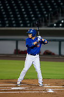 AZL Cubs second baseman Carlos Sepulveda (16) at bat against the AZL Angels on August 31, 2017 at Sloan Park in Mesa, Arizona. AZL Cubs defeated the AZL Angels 9-2. (Zachary Lucy/Four Seam Images)