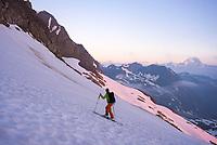 Ascending Grieshorn from the Bedretto valley, Ticino, Switzerland, June 2017.