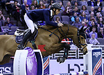 OMAHA, NEBRASKA - MAR 30: Steve Guerdat rides Bianca during the FEI World Cup Jumping Final I at the CenturyLink Center on March 30, 2017 in Omaha, Nebraska. (Photo by Taylor Pence/Eclipse Sportswire/Getty Images)