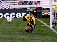 Saint Louis Athletica goalkeeper Hope Solo (1) during a WPS match at Anheuser-Busch Soccer Park, in St. Louis, MO, July 26, 2009.  The match ended in a 1-1 tie.