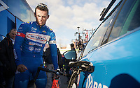 Bjorn Leukemans (BEL/Wanty-Groupe Gobert) checking his bike before the race<br /> <br /> 99th Ronde van Vlaanderen 2015