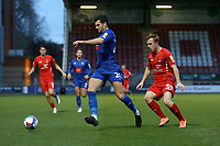 Connor Hall of Harrogate Town and Danny Johnson of Leyton Orient during Leyton Orient vs Harrogate Town, Sky Bet EFL League 2 Football at The Breyer Group Stadium on 21st November 2020