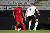 Martin Braithwaite (Dänemark, Denmark) gegen Matthias Ginter (Deutschland Germany) - Innsbruck 02.06.2021: Deutschland vs. Daenemark, Tivoli Stadion Innsbruck