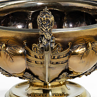 BNPS.co.uk (01202 558833)<br /> Pic: WickAntiques/BNPS<br /> <br /> Pictured: The silver bowl.<br /> <br /> A magnificent silver gilt bowl gifted by King William IV to the Royal Yacht Squadron to be used as a prize for the world-famous Cowes Regatta<br /> has been discovered 186 years later.<br /> <br /> The trophy, known as the King's Cup, was presented to sailor John Barry-Smith who won the annual race in 1835.<br /> <br /> The Irish mariner took the bowl home with him and it graced his mantlepiece of his grand home in Cork for years.
