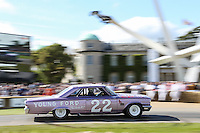 Lee Holman in his 1963 7 litre V8 Ford Galaxie at Goodwood Festival of Speed 2016 at Goodwood, Chichester, England on 24 June 2016. Photo by David Horn / PRiME Media Images