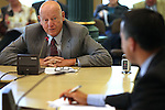 Attorney Kent Robison answers questions from Nevada Gov. Brian Sandoval during the Board of Examiners meeting Tuesday, Nov. 8, 2011, at the Capitol in Carson City, Nev..Photo by Cathleen Allison.