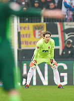 Marwin HITZ, FCA 35 , dejected, Enttaeuschung, Frust, dejected, Trauer ,traurig, verzweifelt, Verzweiflung , Einzel , <br /> FC AUGSBURG -  SV WERDER BREMEN  1-3<br /> Football 1. Bundesliga , Augsburg,17.03.2018, 27. match day,  2017/2018, 1.Liga, 1.Bundesliga, <br />  *** Local Caption *** © pixathlon<br /> Contact: +49-40-22 63 02 60 , info@pixathlon.de