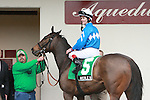 2011 04 16: Nicole H with Channing Hill in winners circle after winning  of the Grade 2 Distaff Handicap at 7 furlongs for fillies and mares at Aqueduct Racetrack. Trainer Michael Hushion. Owner GEM Racing