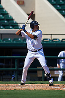 Detroit Tigers Daniel Pinero (34) bats during a Florida Instructional League intrasquad game on October 17, 2020 at Joker Marchant Stadium in Lakeland, Florida.  (Mike Janes/Four Seam Images)