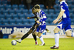 Kilmarnock v St Johnstone....15.01.11  .Cleveland Taylor gets past Garry Hay and scores to level the game at 1-1.Picture by Graeme Hart..Copyright Perthshire Picture Agency.Tel: 01738 623350  Mobile: 07990 594431