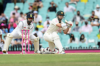 8th January 2021; Sydney Cricket Ground, Sydney, New South Wales, Australia; International Test Cricket, Third Test Day Two, Australia versus India; Matthew Wade of Australia hits a sweep shot