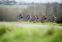 breakaway group about to hit the La Houppe climb<br /> <br /> 58th E3 Harelbeke 2015