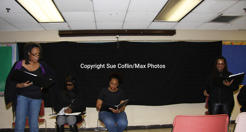 """Evern Gillard-Randolph, playwright and founder of Grandparents Around the World, presents her new play """"To Do List"""" in a first play reading on December 7, 2013 at the Salvation Army Harlem Corps, New York, New York.  (Photo by Sue Coflin/Max Photos)"""