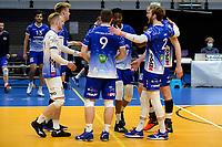 27-03-2021: Volleybal: Amysoft Lycurgus v Draisma Dynamo: Groningen vreugde na de 3-2 zege bij Lycurgus