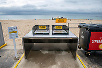 BNPS.co.uk (01202 558833)<br /> Pic: MaxWillcock/BNPS<br /> <br /> Pictured: Electric beach barbecues at Branksome Chine beach near Bournemouth in Dorset.<br /> <br /> A council that spent over £106,000 on installing communal barbecues on a seafront promenade had to close them over cleanliness issues. <br /> <br /> The electric cooking stations were opened to great fanfare two weeks ago by officials in Bournemouth, Dorset.<br /> <br /> Users are meant to clean up the grills after they have finished with them but most people aren't bothering.