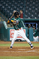 Marcos Rivera (11) of the Greensboro Grasshoppers at bat against the Augusta GreenJackets at First National Bank Field on April 10, 2018 in Greensboro, North Carolina.  The GreenJackets defeated the Grasshoppers 5-0.  (Brian Westerholt/Four Seam Images)