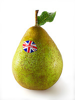 Fresh British comice pears
