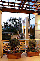 veranda of a three storey house